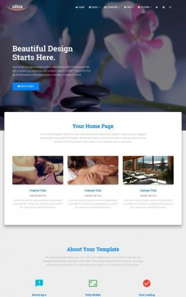 Ultra Spa Website Template