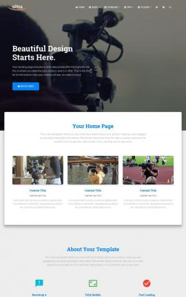 Ultra Videography Website Template