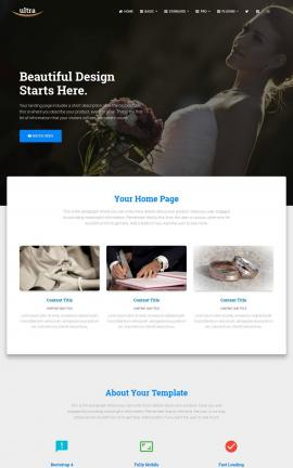 Ultra Wedding Website Template