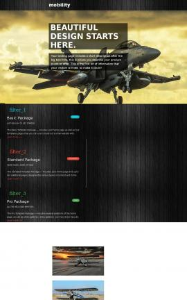 Mobility Aviation Website Template