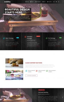 Mobility Bed-and-breakfast Website Template