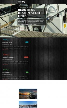 Mobility Boating Website Template