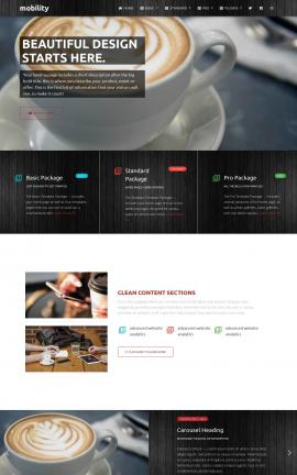 Mobility Cafe Website Template