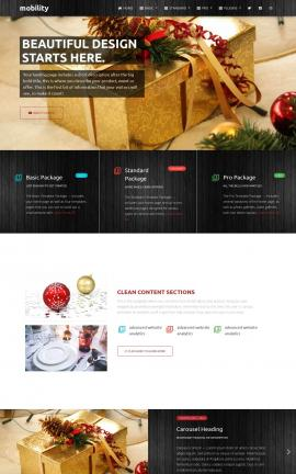 Mobility Christmas Website Template