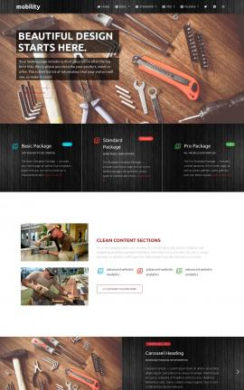 Mobility Construction Website Template