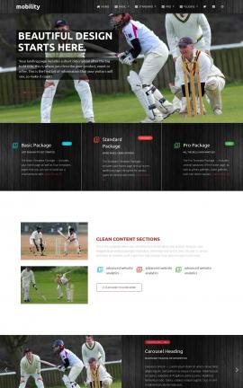 Mobility Cricket Website Template