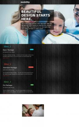 Mobility Dental Website Template