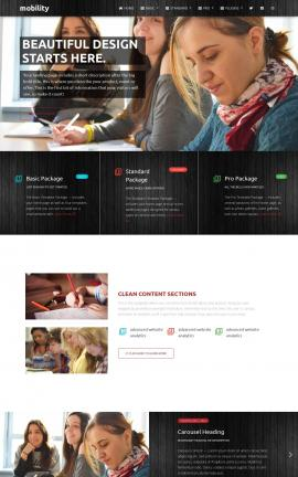 Mobility Education Website Template