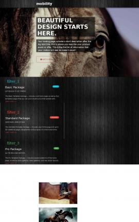 Mobility Equestrian Website Template