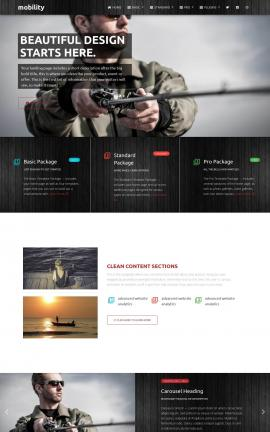 Mobility Fishing Website Template