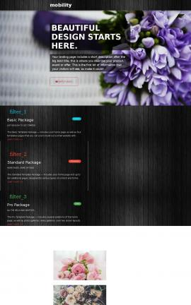 Mobility Floral Website Template