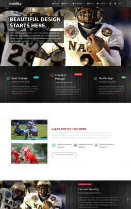 Mobility Football Website Template