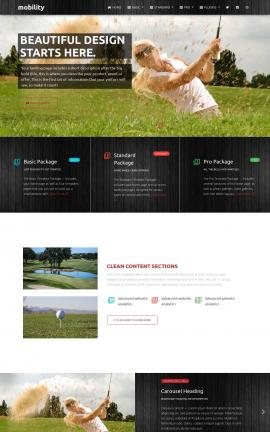 Mobility Golf Website Template