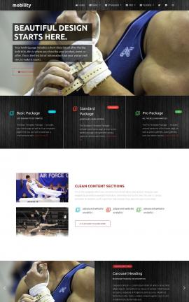 Mobility Gymnastics Website Template