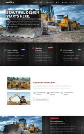 Mobility Heavy-machines Website Template
