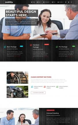 Mobility Insurance Website Template