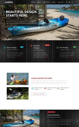 Mobility Kayak Website Template