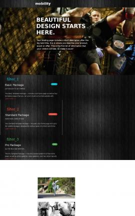 Mobility Martial-arts Website Template