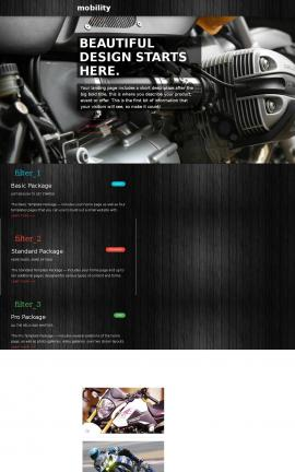 Mobility Motorcycle Website Template