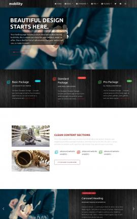Mobility Music Website Template