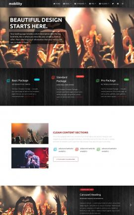 Mobility Night-club Website Template