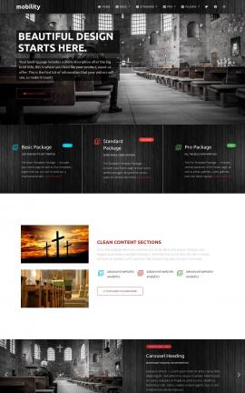 Mobility Religion Website Template