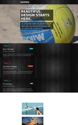 Mobility Volleyball Website Template