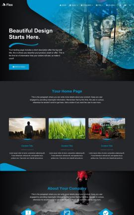 Flex Agriculture Website Template