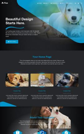Flex Animal-shelter Website Template