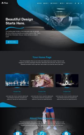 Flex Dance Website Template