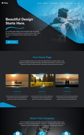 Flex Fishing Website Template