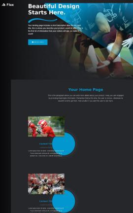 Flex Football Website Template