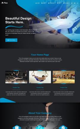 Flex Gymnastics Website Template