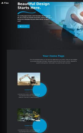 Flex Heavy-machines Website Template