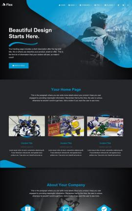 Flex Hockey Website Template