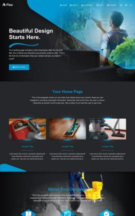 Flex Janitorial Website Template