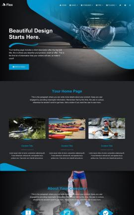 Flex Kayak Website Template