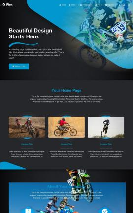 Flex Motocross Website Template