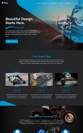 Flex Motorcycle Website Template