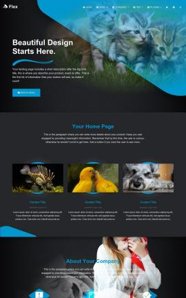 Flex Pet-store Website Template