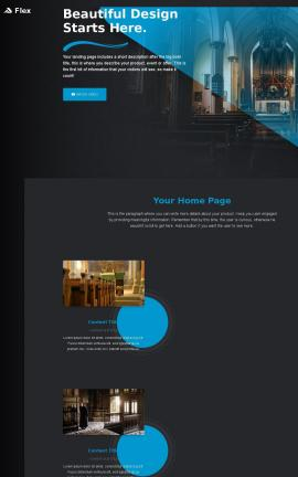 Flex Religion Website Template