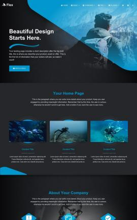 Flex Scuba-diving Website Template