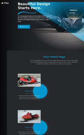 Flex Snowmobile Website Template