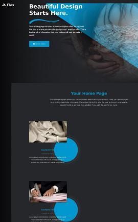 Flex Wedding Website Template