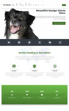 Fresh Dogs Website Template