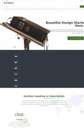 Fresh Religion Website Template
