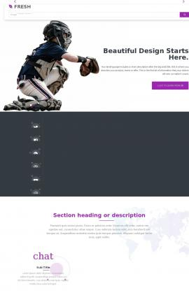 Fresh Baseball Website Template