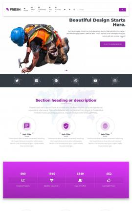 Fresh Construction Website Template