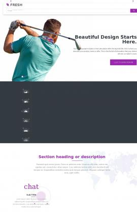 Fresh Golf Website Template