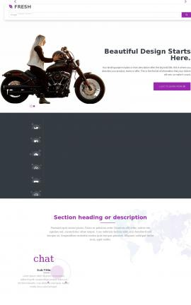 Fresh Motorcycle Website Template